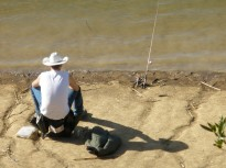 Fishing Dude, Lake Chabot