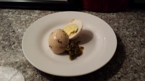 Smoked Harboiled Eggs from Cafe 3016, MacArthur, E Oakland